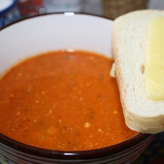 Рецепт Легкий томатный суп с мидиями