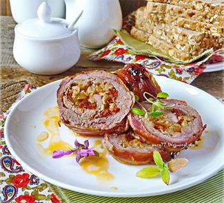 Рецепт Индейка, начиненная перловкой и вялеными томатами