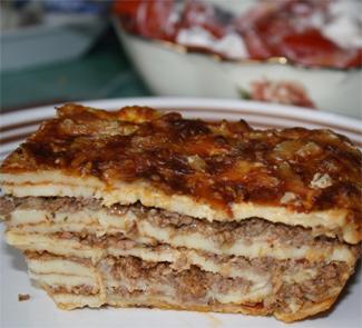 Рецепт Блинная лазанья