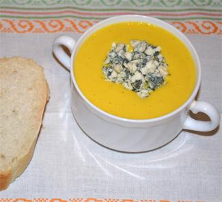 Рецепт Густой суп-пюре из тыквы с курицей и мускатным орехом