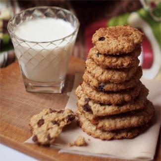 Рецепт Овсяное печенье с корицей и имбирем