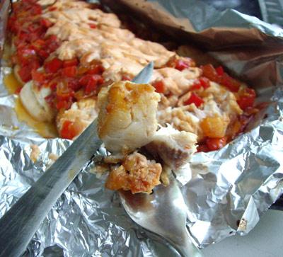 Рецепт Толстолобик под овощной шубкой