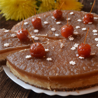 Рецепт Творожно-яблочный торт