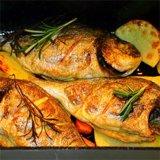 Рецепт Дорада, маринованная в мятном соусе