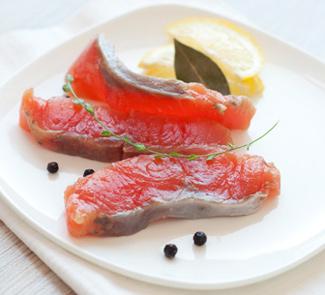 Рецепт Соленая красная рыба