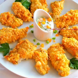 Рецепт Куриное филе в панировке из чипсов