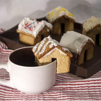 Рецепт Печенье Имбирные домики