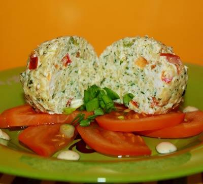 Рецепт Тефтели паровые со шпинатом и томатом