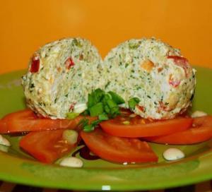 Тефтели паровые  со шпинатом и томатом