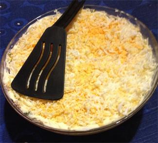 Рецепт Слоеный салат Курочка в шубке