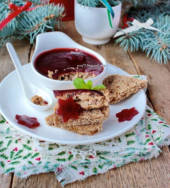 Рецепт Рийет (rillette) из кролика с печенью и мармеладом из портвейна