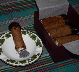 Рецепт Блинные сигары с творожно-маковой начинкой