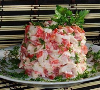 Рецепт Салат Красное море