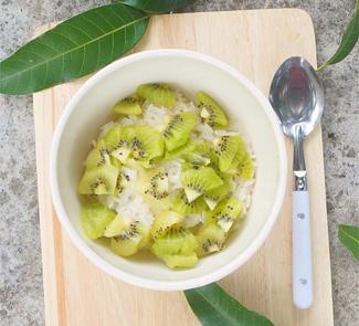 Рецепт Рисовый пудинг на кокосовом молоке с фруктами