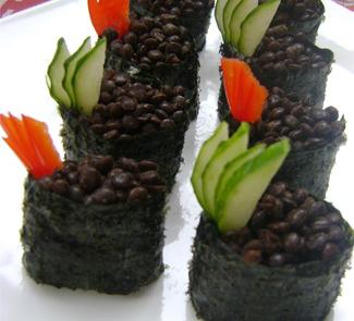 Рецепт Гункан-суши с черной чечевицей