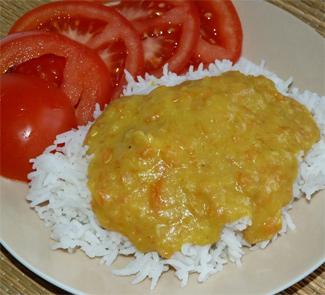 Рецепт Рис с подливкой из дала