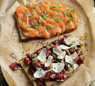 Рецепт Брускетта с лососем