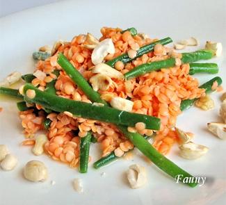 Салат из красной рыбы и стручковой фасоли картинки