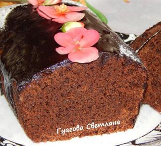 Рецепт Влажный шоколадный кекс без яиц