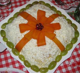 Салат подарок с фото пошагово 192