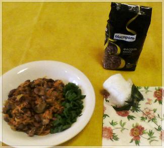 Рецепт Лобио с грибами